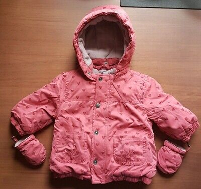 57c6a355d5c28 Vertbaudet Baby Girl 3 in 1 Parka with detachable Fleece Jacket 6-9 Months