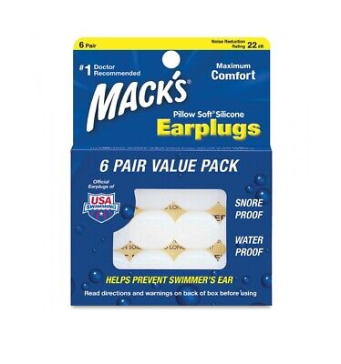 Mack's Soft Moldable Silicone Earplugs Normal Size Reusable Ear Plug Macks Adult