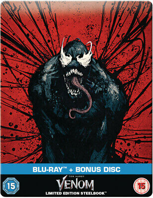 Venom Blu Ray and Bonus Steelbook Zavvi Exclusive NEW AND SEALED Marvel