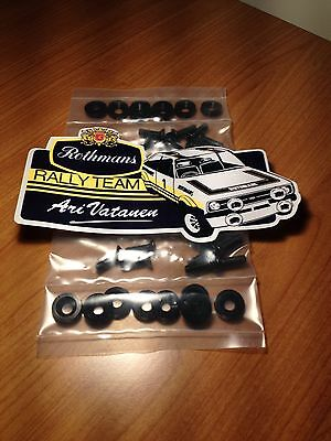 Ford Mk2 Escort Moulded Mud Flap Fitting Kit Anodised Various Rally Race
