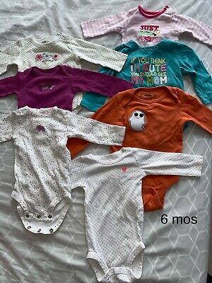 long sleeve Girl jumpsuit (size 6 Months) Lot of 7