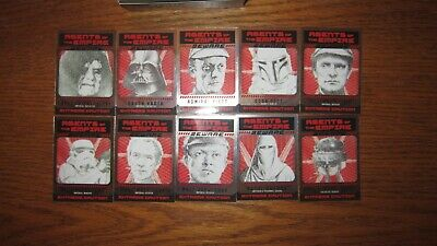 Complete Wanted Poster Chase Card Set 1-10 Star Wars Perspectives UK Exclusive