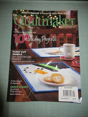 Quiltmaker Magazine November/ December 18 - 10 Holiday Christmas Projects