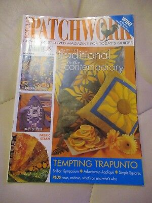 Popular Patchwork Magazine June 2003 - Tempting Trapunto, Bag Pattern Etc.