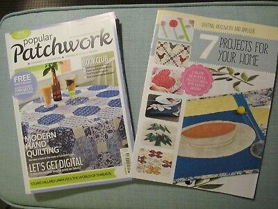 Popular Patchwork Magazine & Supplement Sep 2016 - Incls Hand Quilting & Home