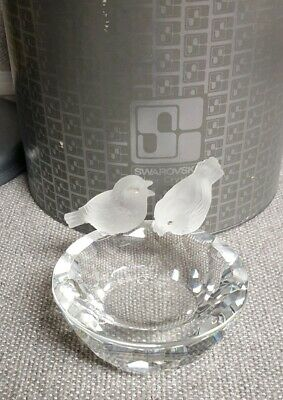 Swarovski Crystal Bird Bath With Original box