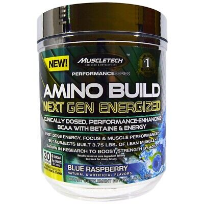 Muscletech Amino Build Next Gen BCAA Betaine Energized 9.96oz (282g)