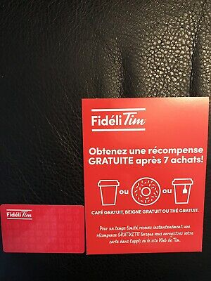 New Tim Horton's Fideli Tim Reward Card(In French) Collectible Tim Horton's Gift