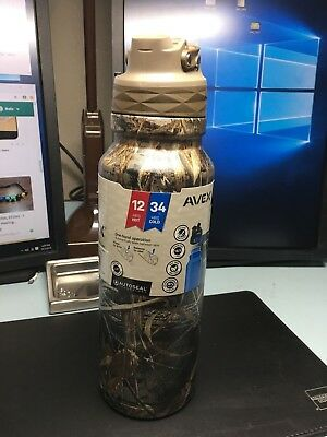 3b0e345b92 AVEX FreeFlow AUTOSEAL Stainless Steel Water Bottle 40oz Realtree Camo (NEW)