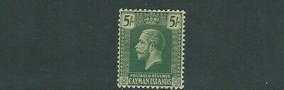 CAYMAN ISLANDS 1921-26 KGV portrait (scott 62 5 shillings) VF MH
