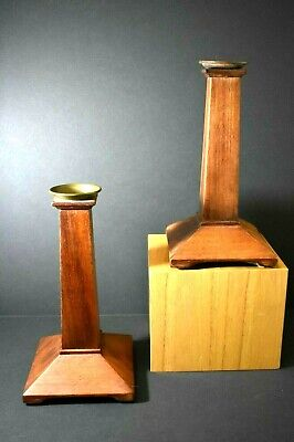Pair Arts And Crafts Mission Style Candle Holders