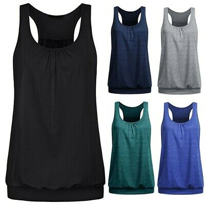 Ladies Breathable Vest Wicking Womens Cool Dry Running Gym Sports Tank Top
