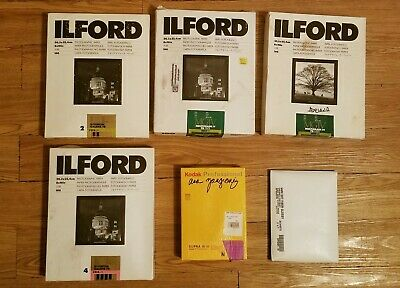 Expired Darkroom Photo Paper Lot Ilford Fiber 8x10 5x7 *SOLD AS IS*