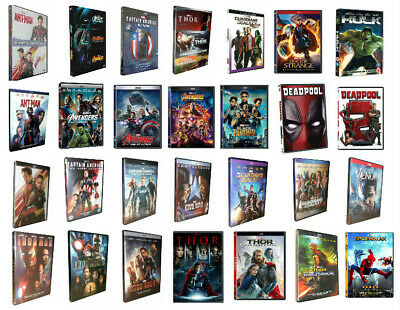 Pick 29 Marvel DVD Lot Movie Avengers Collection Hulk Thor 123 Iron Man 123 New