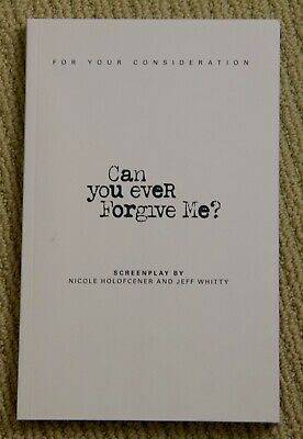 CAN YOU EVER FORGIVE ME screenplay RARE 2018 SCRIPT Melissa McCarthy NEW FYC