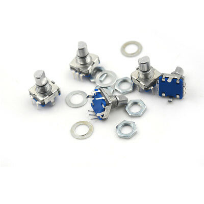 5Pcs Rotary Encoder Push Button Switch Keyswitch Electronic Components 12Mm FE