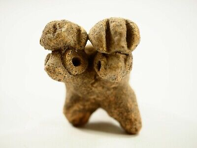 Sharp Pre-Columbian double Parrot Ocarina Whistle Costa Rica CAA 45