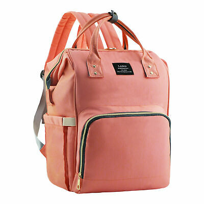 Mommy Maternity Baby Nappy Diaper Bag Backpack with Stroller Hook