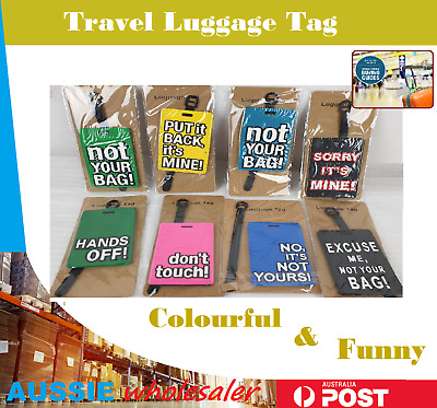 1pcs Colourful Travel Luggage Tag PVC Name Bag Card Holder Suitcase Luggage Tags