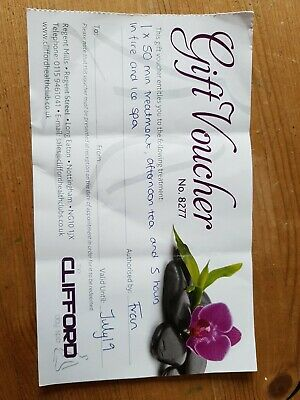 Gift Voucher Clifford Spa In Long Eaton