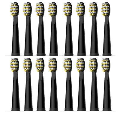 16x Fairywill Brush Heads Refills for FW-507/ 508/ 959/ 917 Hard Tooth-waved