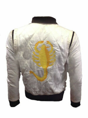 Drive Scorpion Stylish Satin Fitted Rayan Gosling Movie Jacket Mens Bomber Top