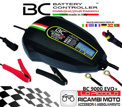 BC BATTERY 9000 EVO PLUS CHARGE&TEST 12V 9A/1A Caricabatteria Digitale e Tester