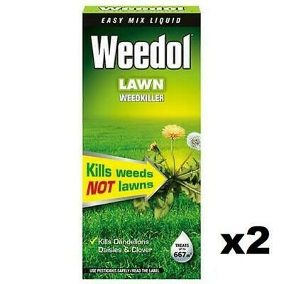 2 x 1L SCOTTS WEEDOL VERDONE FAST-ACTING LAWN WEEDKILLER CONCENTRATE WEEDS PATIO
