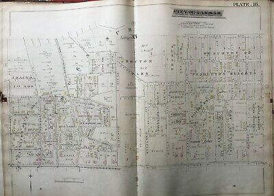 1886 Pendleton Heights Kc Mo Troost Ave - Salisbury Ave Maple Park Atlas Map