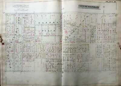 1886 Paseo West Kc Mo Troost Ave - Prospect St & Independence - 12 St Atlas Map