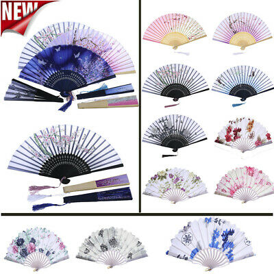 CHINESE STYLE DANCE Wedding Party Lace Silk Folding Hand