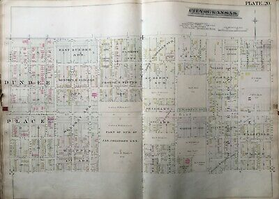 1886 Paseo West Kc Mo 12 St - 17 St & Troost Ave - Prospect Ave Atlas Map