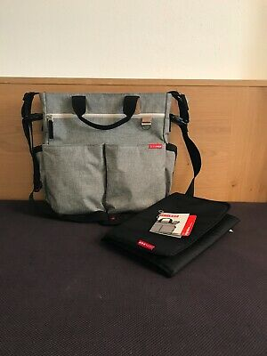 Skip Hop Wickeltasche Signature Duo grey melange