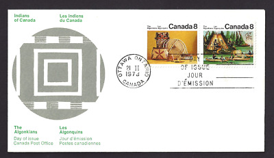 Canada   #  566 - 567 Pair   Algonkian Artifacts    New 1973 Unaddressed
