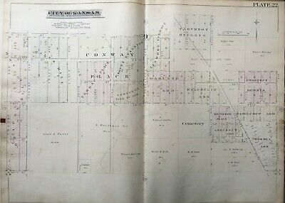 1886 Wendell Phillips Kc Mo 23Rd - 27Th St & Troost - Prospect Ave Atlas Map