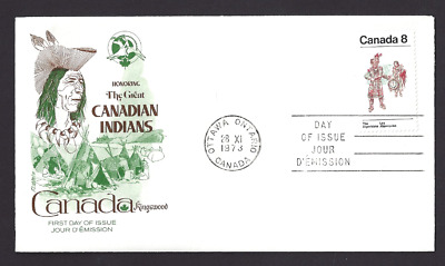 Canada  # 569   Kingswood Cover   Algonkian Indians    New 1973 Unaddressed