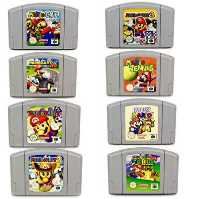 N64 Game Pal Mario Kart Party 1 2 3 Tennis Paper Mario Super Mario Nintendo 64