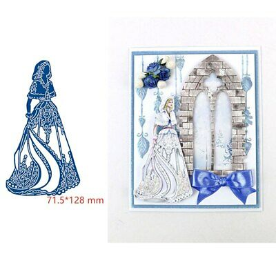 Mid- Winter Bride Metal Cutting Die Stencil For Scrapbooking Paper Cards Crafts