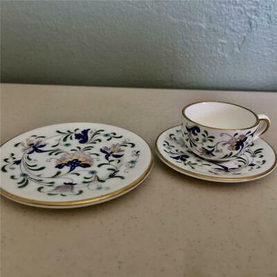 Coalport Bone China Miniature Trio - Pageant Pattern - Cup, Saucer, Plate