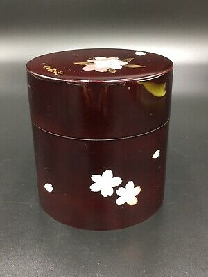 Japanese Lacquer Tea CADDY Container / Tea Container .