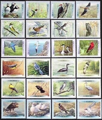 CANADA- BIRDS of CANADA series -1996-2001- 6 Complete Sets, 24 stamps Mint NH