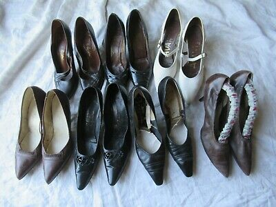 Vintage shoe lot 7 pairs of original 1950s vintage shoes