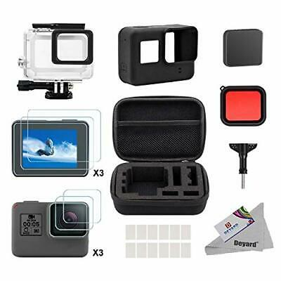 Accessories for GoPro Hero 7(Only Black)/HD(2018)/6/5 + Case Screen Protector