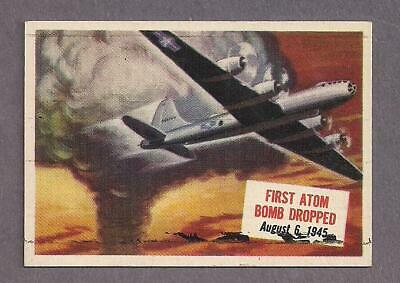 1954 Topps Scoops #12 first atom bomb dropped on Hiroshima, Japan