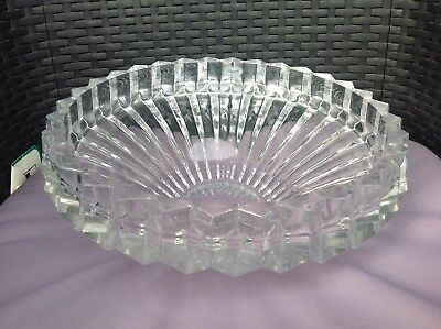 Large approx 4 kgs ROGASKA Thick Cut LEAD CRYSTAL BOWL 30cm Diameter