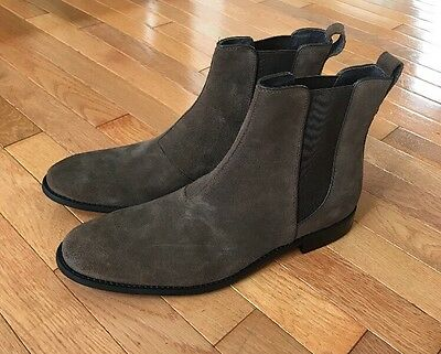 John Varvatos Mens Chelsea Boots Leather Suede Brown Ankle Size 13 New $278