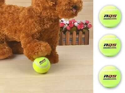 AQS Tennis Balls Bright Green For Pets Puppy Play Dog Toy Bouncing Training Ball