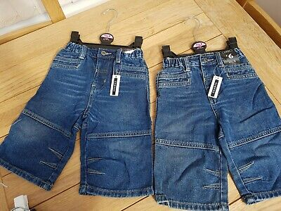 2 Pair Of Boys Crop Denim Jeans George Brand New Age 1 1/2 To 2 Years