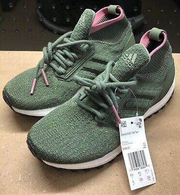 Adidas UltraBoost All Terrain Kids Green Running Shoes Size 5 B43520