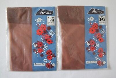 b23a985a8b3 Vintage 1960 s Aristoc 555 Seamfree Sheer Stockings Size 9 Sorrento x 2  pairs